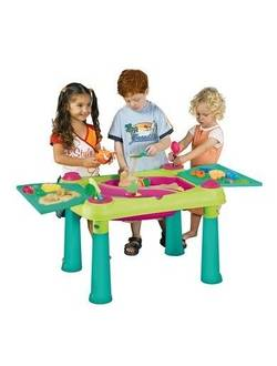 Стол Sand & Water table, бирюза/зеленый/красный