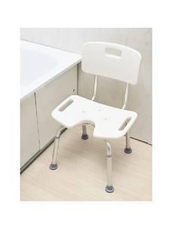 Стул для ванны со спинкой и вырезом Heiler BA302/B
