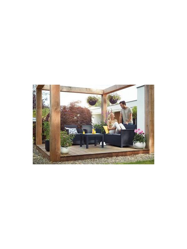 """Комплект мебели """"Emma 2 seater""""(2х местный диван, 2 кресла, столик), графит"""