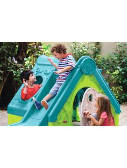 Детский уличный игровой домик FUNTIVITY PLAYHOUSE -BLU804-Curver Ma (Бирюзово-зеленый)