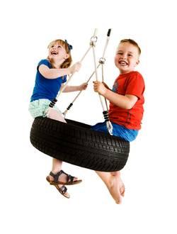 Набор веревок для подвешивания горизонтальных детских качелей из автопокрышек