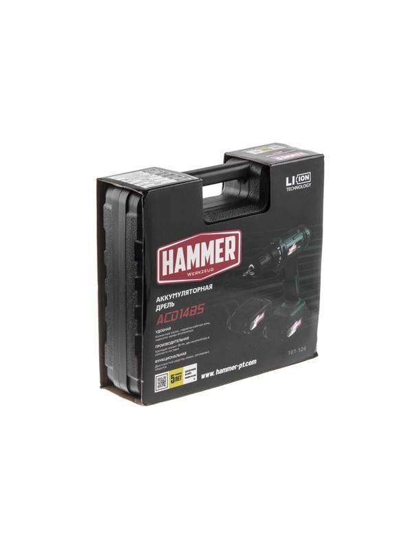 Дрель-шуруповерт аккумуляторная Hammer Flex ACD14BS