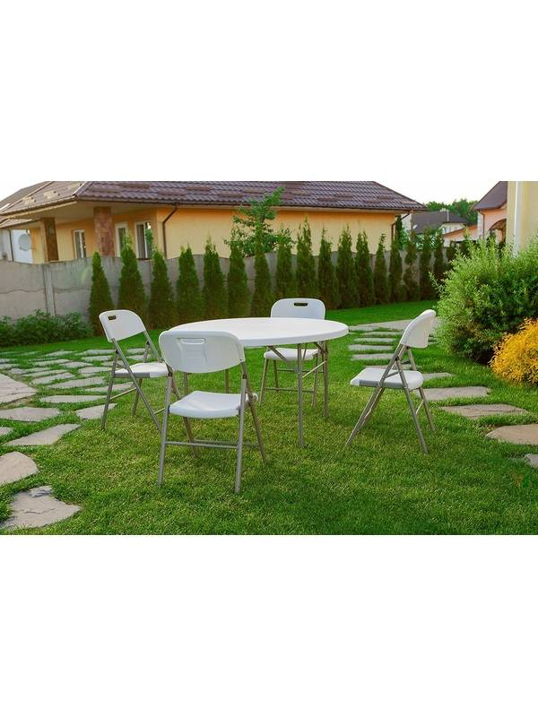 Набор складной садовой мебели CALVIANO (стол круглый 122см и 4 стула)