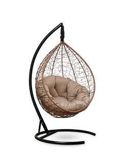 Подвесное кресло-кокон SEVILLA VERDE горячий шоколад кокон+бежевая подушка