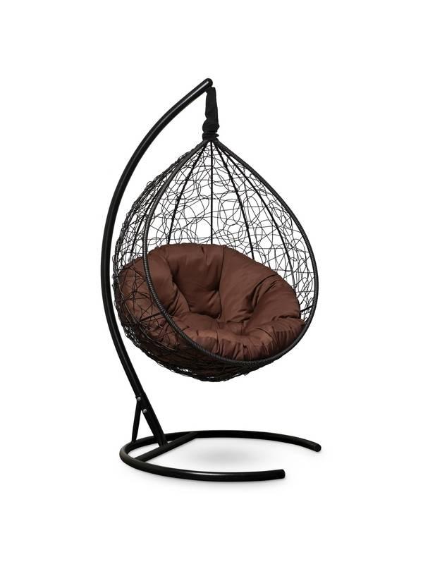 Подвесное кресло-кокон SEVILLA VERDE черный кокон+шоколадная подушка