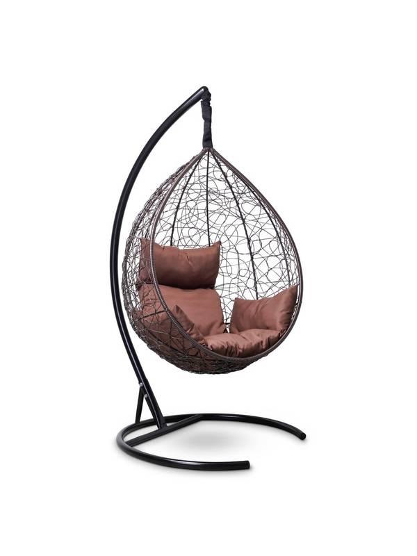 Подвесное кресло-кокон SEVILLA шоколадный кокон+шоколадная подушка