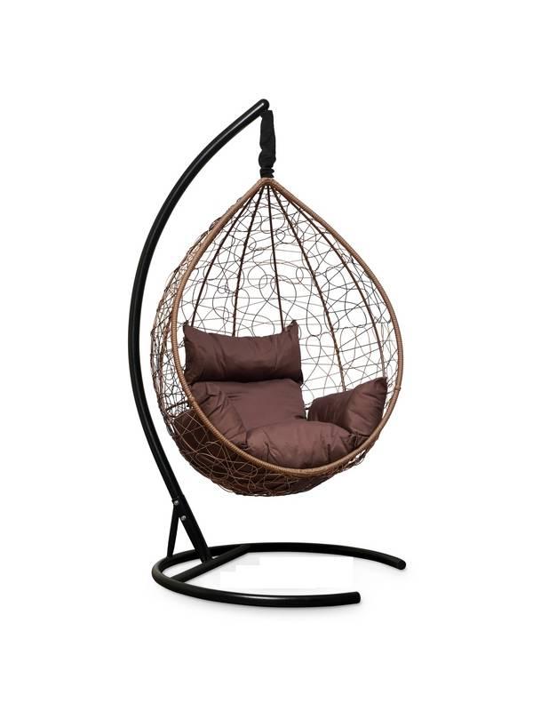 Подвесное кресло-кокон SEVILLA горячий шоколад кокон+шоколадная подушка