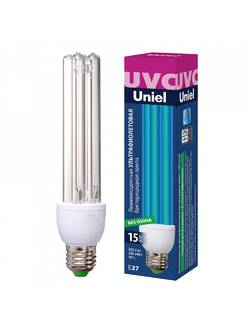 Лампа бактерицидная ультрафиолетовая ESL-PLD-15/UVCB/E27/CL