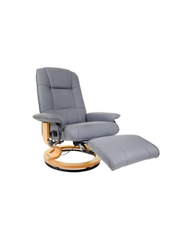 Кресло вибромассажное Calviano с подъемным пуфом и подогревом 2158