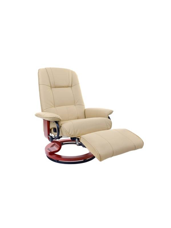 Кресло вибромассажное Calviano с подъемным пуфом и подогревом 2160