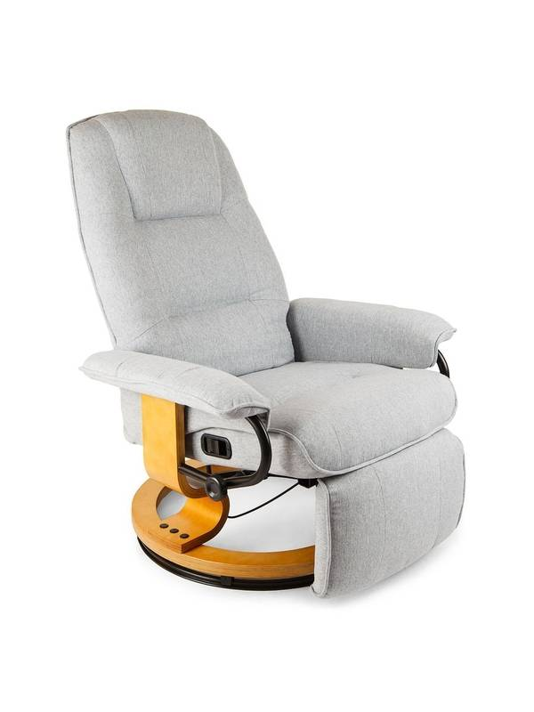 Кресло вибромассажное Calviano с подъемным пуфом и подогревом 2162